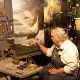 Carol Thompson artist painting LIVE