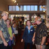 Art walk visitors and guests