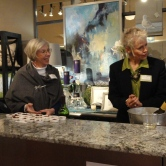 Dianne and Sharon art hostesses