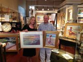 Victoria Brooks endorsed two paintings for a Fairweather Gallery art patron.