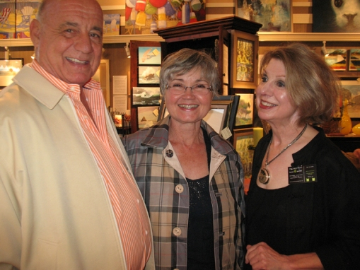 And they came for good friends, good food and good times. Art patrons, Michael and Clara Gamache with Denise