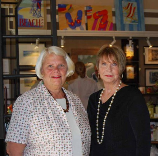 Welcoming you and me and all our friends,  Lana Jane Brent and Ellen Swanson, Art Walk hostesses.