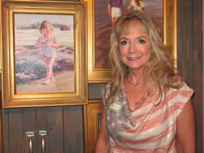 Artist Victoria Brooks, July 5th at Moments