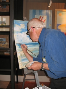 Paul Brent Seaside Painting LIVE (tm) July, 2014.