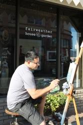 Painting LIVE artist Rodney Glen Martinez.