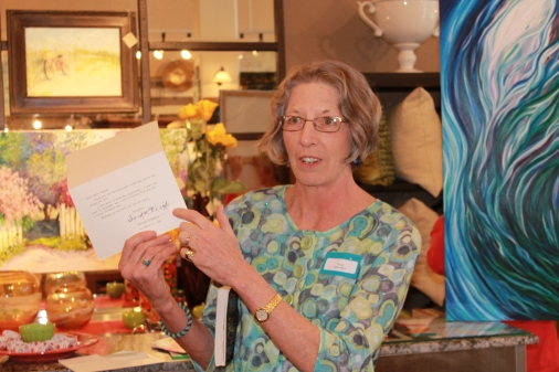 Gayle Seely once spoke about a card received from Georgia O'Keefe.