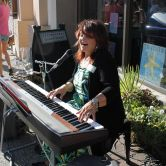 Shirley 88 performing outside