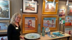 Victoria Brooks and her art on display at Fairweather's.