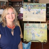 Melissa Jander and her fine art.