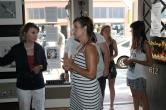 Art Walk opens on a sunny evening.