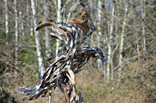 Steel Ribbon and Driftwood by Robert McWhirter