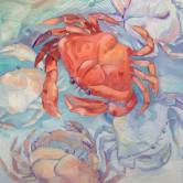Oregon Crab Paul Brent painting.