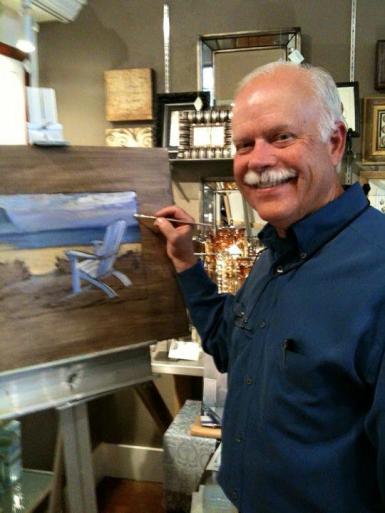 Artist Paul Brent during Seaside Painting LIVE (tm)
