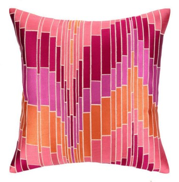 Graphic pillow with down insert