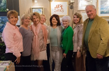 Ellen, Kathy, Aliza, Kay, Shirley, Joan, Denise with Neal Maine, guest speaker.