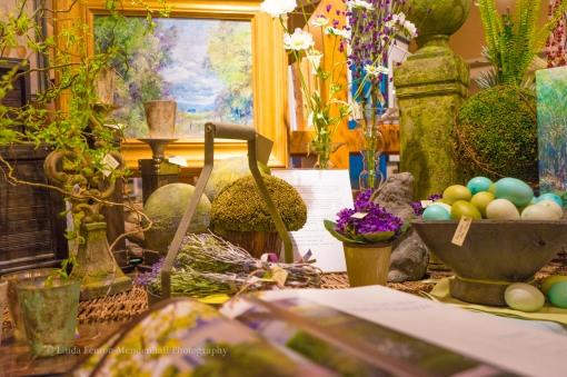 Easter trestle table