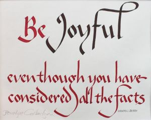 Be Joyful quote