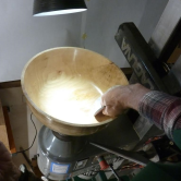Near complete turned bowl