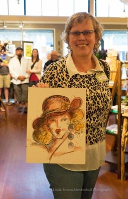 Artist Kathryn Delany introduces a Luscious Lady.