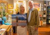 Art patron with Victoria Brooks.