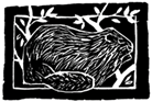 beaver-woodcut-sara-vickerman-gage