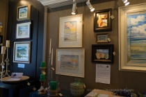 Fairweather Gallery display of art by Paul Brent.