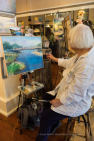 Artist Bev Drew Kindley paints LIVE.