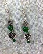 Heart earrings by Mary Hurst Ryan