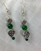 Heart earrings by Mary Hurst Ryan