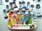 Acrylic artist palette