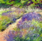 Pastel painting of lavendar
