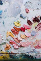 A rosey paint palette