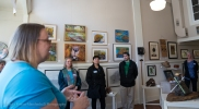 Meylssa Graeber, Executive Director of the Necanicum Watershed Council, spoke during the opening reception of Beaver Tales.