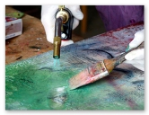 Encaustic painting process