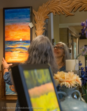 Kimberly Kent meets her art on display at Fairweather's.