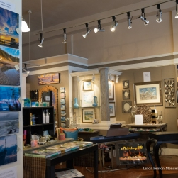 Resin photography by Linda Fenton-Mendenhall, watercolors and oil minatures by Paul Brent.
