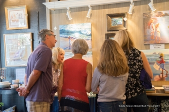 Art patrons meet artist Victoria Brooks.