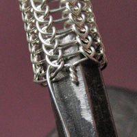 Sterling silver Viking knit in progress