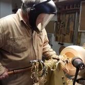 Turning the wood