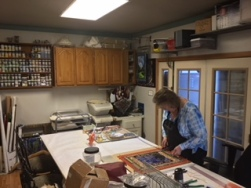 Lori's studio.