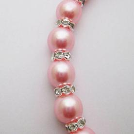 Pink pearls and rhinestones+