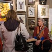 Karen E. Lewis and her art patrons at FRESH GREENS.