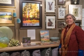 Karen E. Lewis and her art at FRESH GREENS