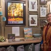 Karen E. Lewis and her art at FRESH GREENS