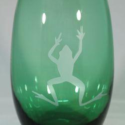 Frog beverage glass by Rox Heath