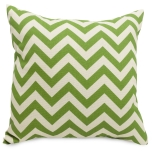 Designer throw pillow, down filled.