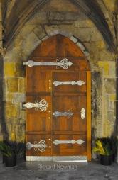 SILVER & WOOD DOOR