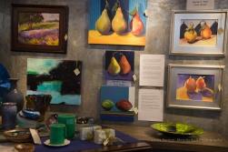 Lisa Wiser's pears on display