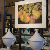 Bill Baily's pears on display.
