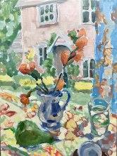 """""""Garden Morning"""" 16x12, original oil by Melissa Jander"""